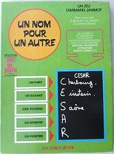 Ancien jeu éducatif Un nom pour un autre / Armand Jammot / Robert Laffont 1974