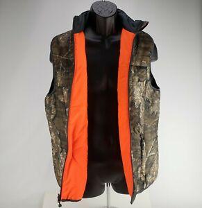 Browning Realtree Timber Camo Reversible Blaze Orange Hunting Vest Size Medium
