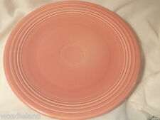 Rose Pink Fiesta Chop Plate Post 82 11.5 inches wide