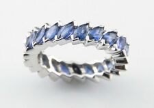 Platinum & Blue Sapphire Eternity Ring/Band