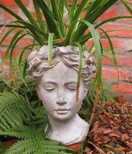 Jardin Buste Statue Femme Figurine Pot de Fleur Campagne Terracotta Taille