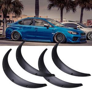 """4X 4.5"""" JDM Fender Flares Extra Wide Body Kits Wheel Arches For Subaru WRX STI"""