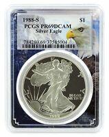 1988 S 1oz Silver Eagle Proof PCGS PR69 DCAM - Eagle Frame