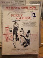 Vintage Sheet Music 1935 Porgy Bess Samuel Goldwyn Sidney Potier Sammy Davis Jr