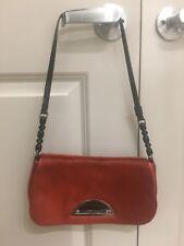 Christian Dior red pony hair shoulder bag purse pochette
