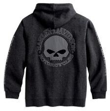 Harley-Davidson Mens Skull Hoody Jumper Hoodie Shirt 99107-18VM/022L 2XLarge