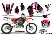 AMR Racing Honda CR 500 Graphic Kit Wrap Bike Decals MX Parts 1989-2001 FRENZY