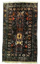 Afghan Antique Tribal Rug appx 4' x 7'