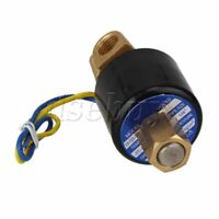 """DC 12V 1/4"""" N/O 2 Way Brass Solenoid Valve NBR Air Water Oil Electric Pneumatic"""