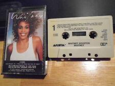 RARE OOP 1ST 2 ALBUM Whitney Houston 2 CASSETTE TAPE Jermaine Jackson KASHIF r&b