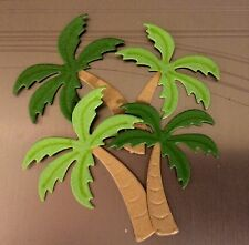 TWELVE SMALL SWAYING PALM TREES. CUTE FOR PLACE CARDS, TAGS, ETC.