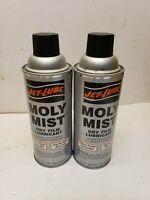 Lot 2 Jet-Lube 16041 Dry Film Lubricant Moly Mist 12 oz. net wt. Aerosol Can