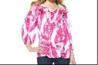 Women's cocktail evening party Cold-shoulder Ruffle top tunic work day plus 2X3X