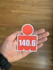 IRONMAN 140.6 IM Triathlon 4 inch Sticker MDOT Car Bumper Decal Swim Bike Run
