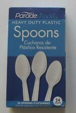 Parade Heavy Duty White Plastic Spoons 24 count
