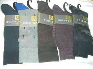 Gold Toe Men's Dress Casual Crew Socks Sz 6 - 12 Cotton