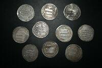 Lot Sale 10 Authentic Ancient Islamic Silver Umayyad Coins Circa  661-750 CE