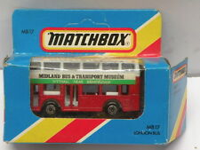 Matchbox Die Cast Bus * BUS & TRANSPORT MUSEUM LONDON BUS * New MB 17 Diecast