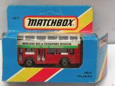 Matchbox Die Cast Bus * BUS & TRANSPORT MUSEUM LONDON BUS * New MB 17 Diecast