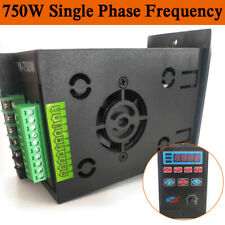 Ac 220v Single To 3 Phase 750w Variable Frequency Drive Inverter Converter Us