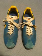 Vintage Original1978 Nike Block Letter Waffel Sole Running Shoe Blue/Gold Japan