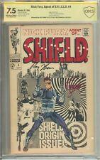 Nick Fury Agent of SHIELD #4 CBCS (not CGC) Signed 2x Jim Steranko Roy Thomas
