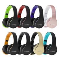 Wireless Stereo Bluetooth Headphone Earphone Headset Mic MP3 FM TF SD Foldable