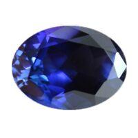 Blue Tanzanite 8.08cts 10x12mm Oval Faceted Cut Shape AAAAA VVS Loose Gemstone