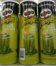 1 NEW PRINGLES SCREAMIN' DILL PICKLE FLAVORED POTATO CHIPS 5.5 OZ FREE SHIPPING