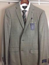 NWT RALPH BY RALPH LAUREN Light Brown 40L Slim Fit SPORT COAT Silk Wool MSRP$295