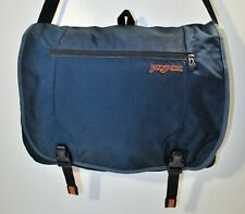 JANSPORT Blue Messenger Shoulder Bag Laptop Computer Bag School Office Vtg