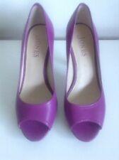 "Jones The Bootmaker Purple Peep Toe Heeled Platform Shoes Size 4 4"" Heel"