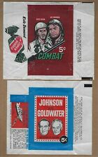 ( 3 )  1960's  TOPPS   NON  SPORTS  WRAPPERS  PLUS  CARDS    CLEAN