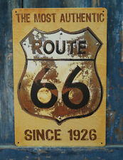 NEW THE MOST AUTHENTIC ROUTE 66 Vintage Metal Tin Signs Home Pub Bar Wall Decor