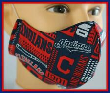 Handmade Adult/Teen Face Mask & FREE Filter CLEVELAND INDIANS Face Covering #16