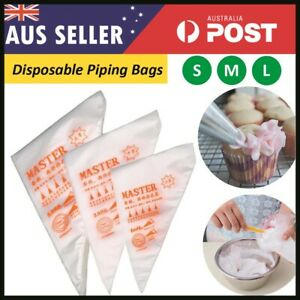 200X Plastic Piping Bags For Cake Decor Icing Frosting Piping Nozzles