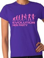 Evolution Of Hen Party  Wedding Bride Married Ladies T-Shirt  Size S-XXL