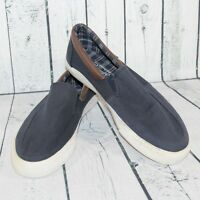 Penguin Munsingwear Sz 11.5 Mens Navy Blue Slip On Canvas Deck Dock Shoes