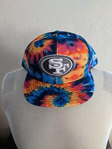 NFL San Francisco 49ers Football Crucial Catch Adjustable Cap New Era Size LG/XL