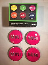 MINI ALLOY WHEEL CENTER BADGE HUB CAP EMBLEM DECAL BRAND NEW IN PINK