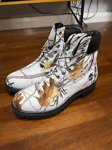 Rare 2011 Timberland 6 inch TrueTimber Snowfall boots waterproof US 10 UK 9.5