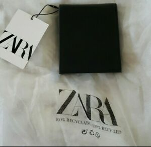 Zara Men Faux Leather Wallet with Coin Pocket, Black & Grey, NEW & UNIQUE