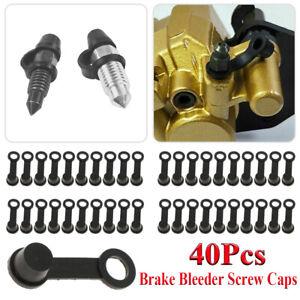 40pcs Brake Bleeder Screw Caps Grease Zerk Fitting Cap Rubber Dust Cover