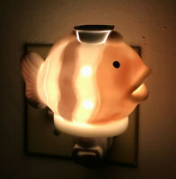 Night Light With Hand Painted Art Work Plug-In Polyresin UL Ocean View