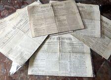 Journal Officiel de l'Empire Français. 2e année. 1870. Lot de 9 numéros.