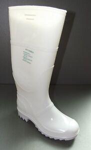 weiße Gummistiefel aus PVC ohne  Stahlkappe Metzgerstiefel Größe 37 bis 48