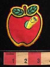 """Cool Worm In Apple Vintage Hallmark Brand """"Rumper Stitcher"""" Patch Emblem 66Z9"""