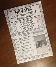 Nevada Ghost Towns & Sites Then and Now Historical Maps with Modern Overlays