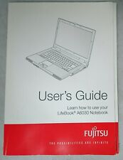 Fujitsu Lifebook A6030 Notebook User's Guide and Related Software Discs