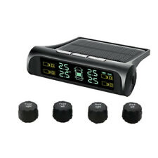 Solar Wireless TPMS Car Tire Pressure LCD Monitoring System + 4 External Sensors